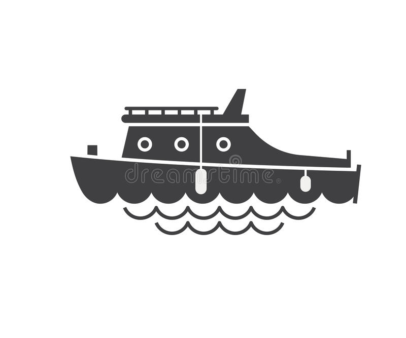 Icône de plaisance d'ensemble de bateau illustration stock