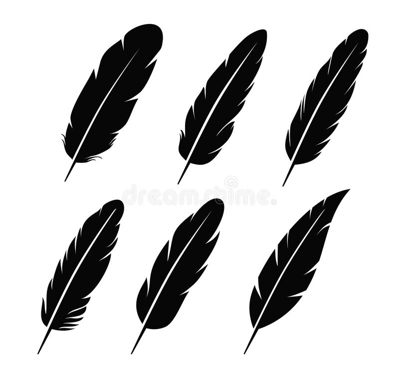 Icône de plume illustration stock