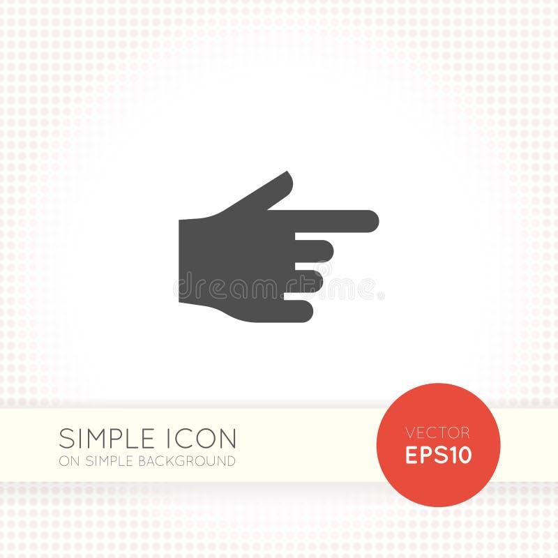 Icône de pointage plate de doigt illustration de vecteur