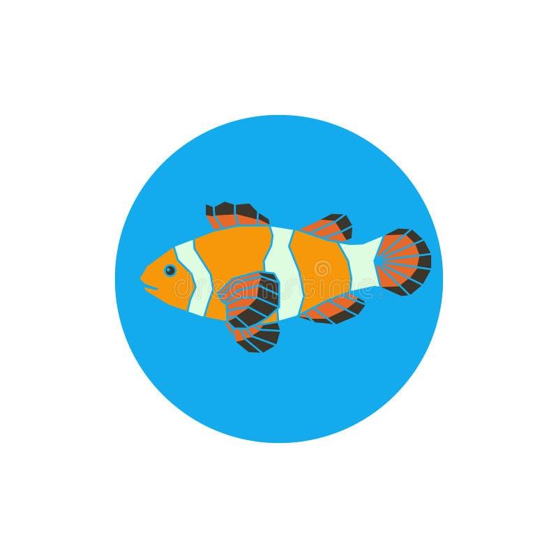 Icône de poissons de perroquet illustration stock