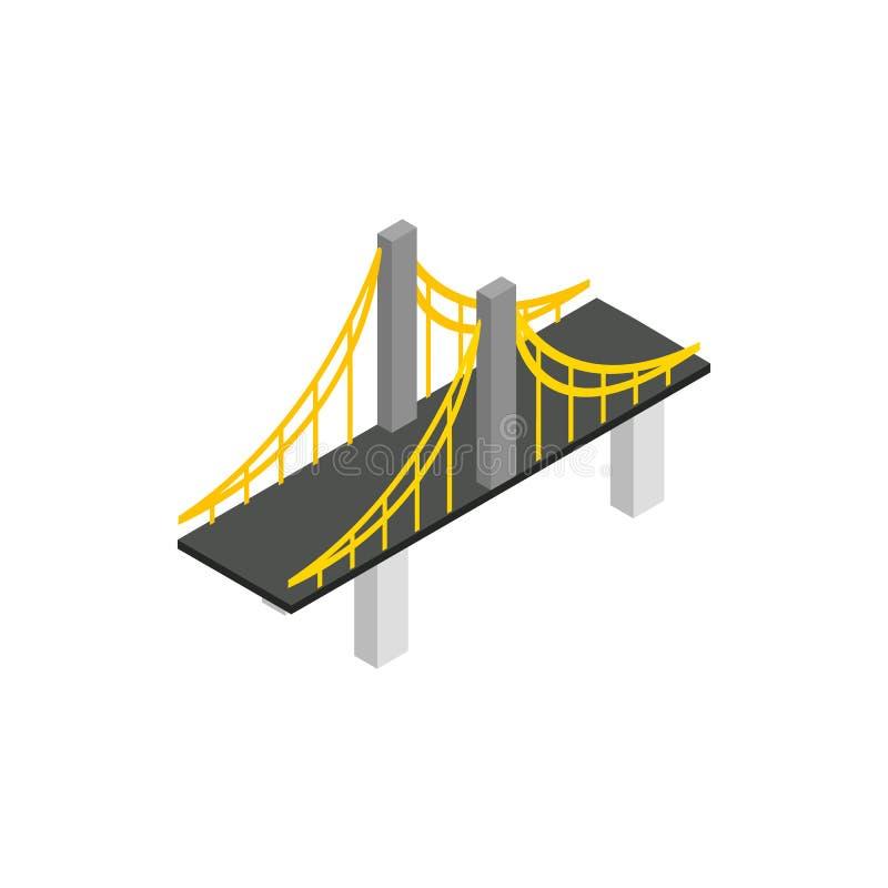 Icône de pont suspendu, style 3d isométrique illustration de vecteur
