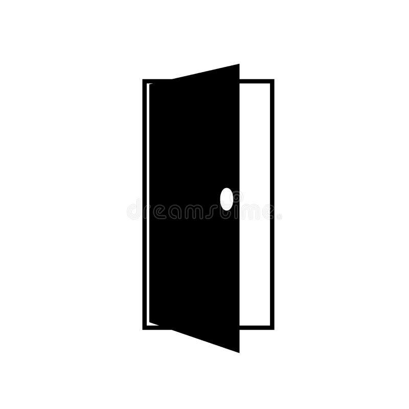 Icône de porte illustration de vecteur