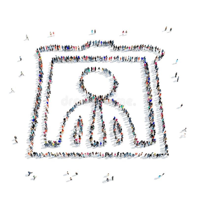 Icône de portrait d'homme de personnes illustration libre de droits