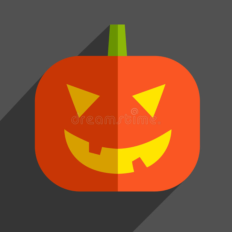 Icône de potiron de Halloween illustration stock