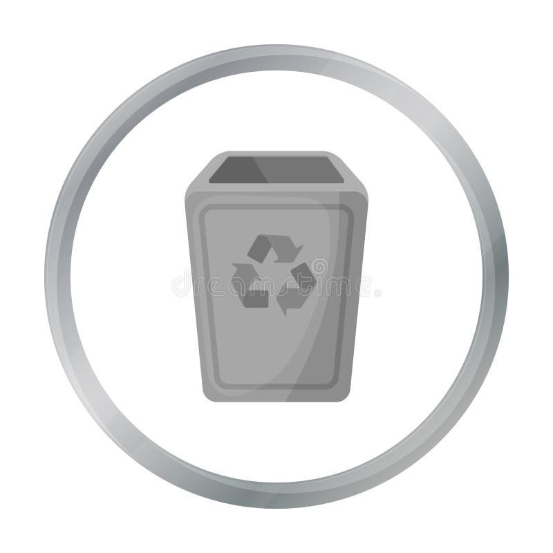 Icône de poubelle dans le style de bande dessinée d'isolement sur le fond blanc Illustration de vecteur d'actions de symbole de d illustration de vecteur