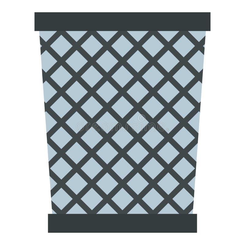 Icône de poubelle en métal de fil d'isolement illustration libre de droits