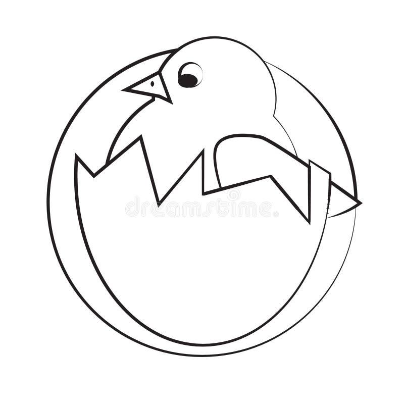 Icône de poulet image stock