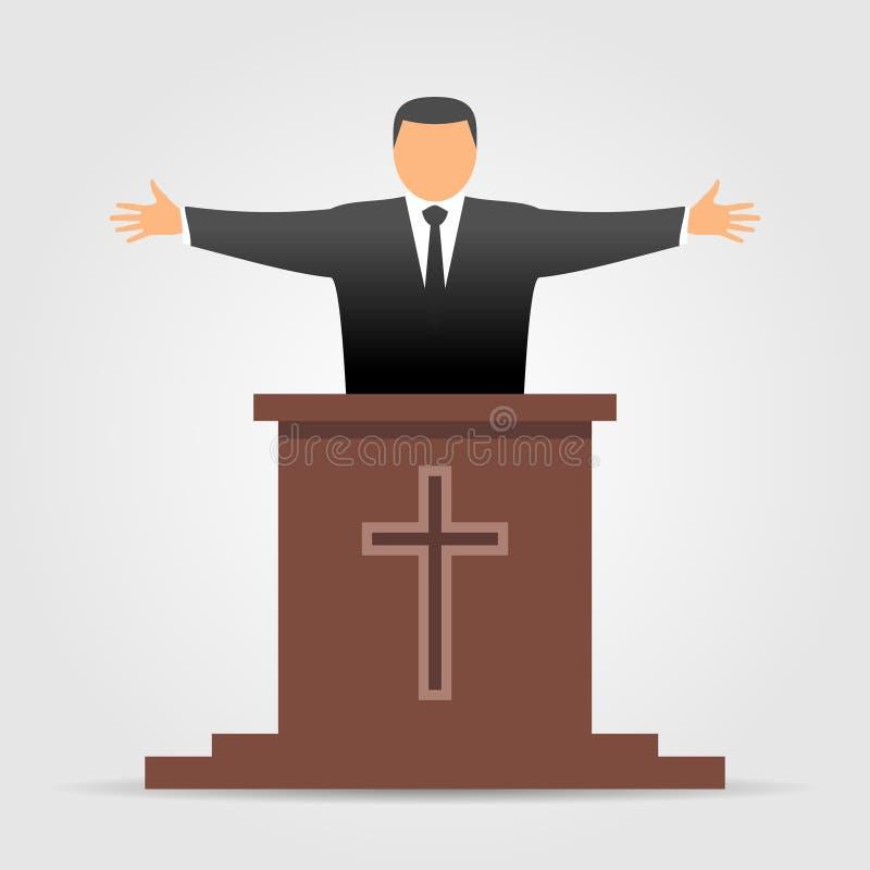 Icône de prédicateur illustration stock