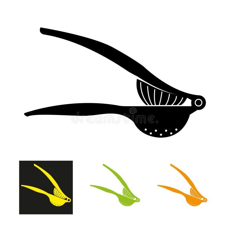Icône de presse-fruits de citron - illustration de vecteur illustration stock