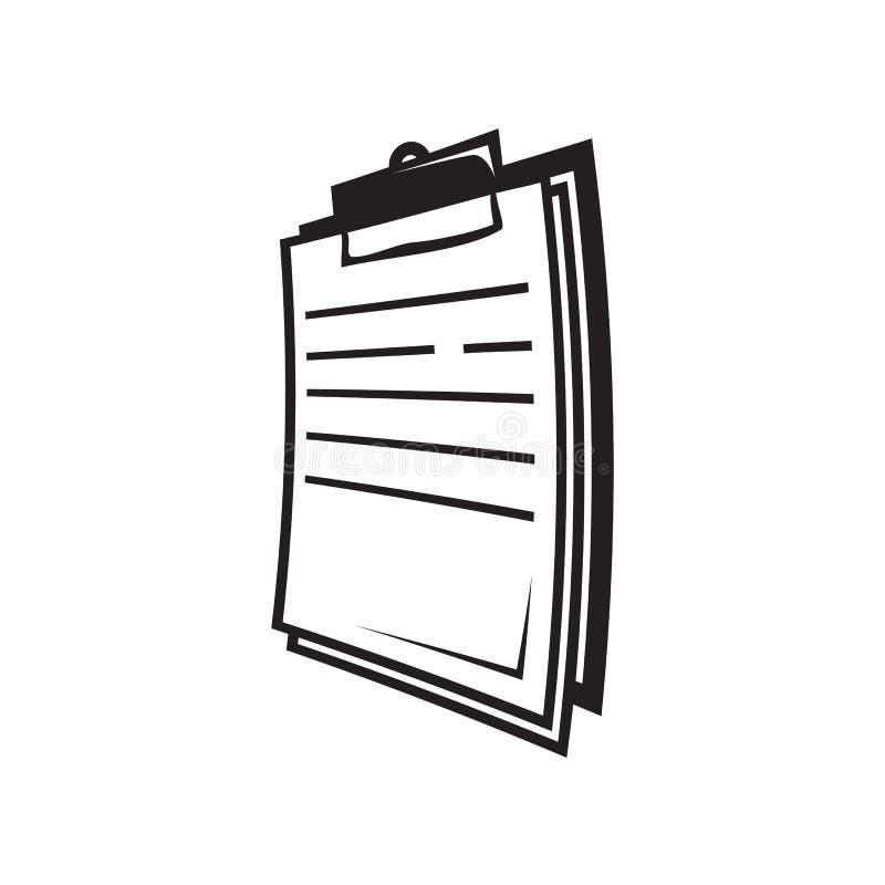 Icône de presse-papiers illustration stock