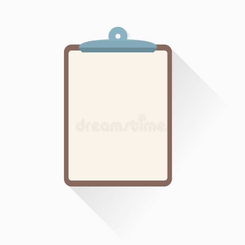 Icône de presse-papiers dans le style plat illustration libre de droits