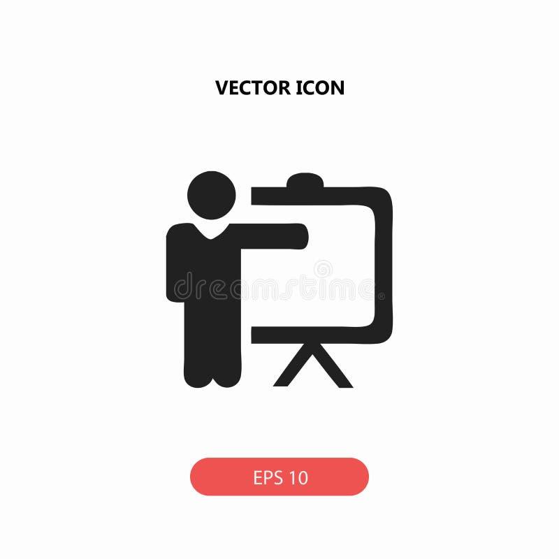 Icône de professeur de formation illustration libre de droits