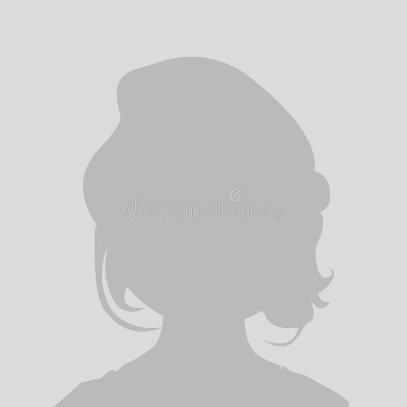 Icône de profil de texte d'attente de défaut illustration libre de droits