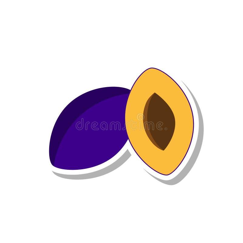 Icône de prune illustration libre de droits