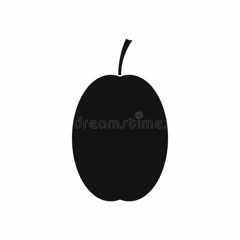 Icône de prune, style simple illustration de vecteur