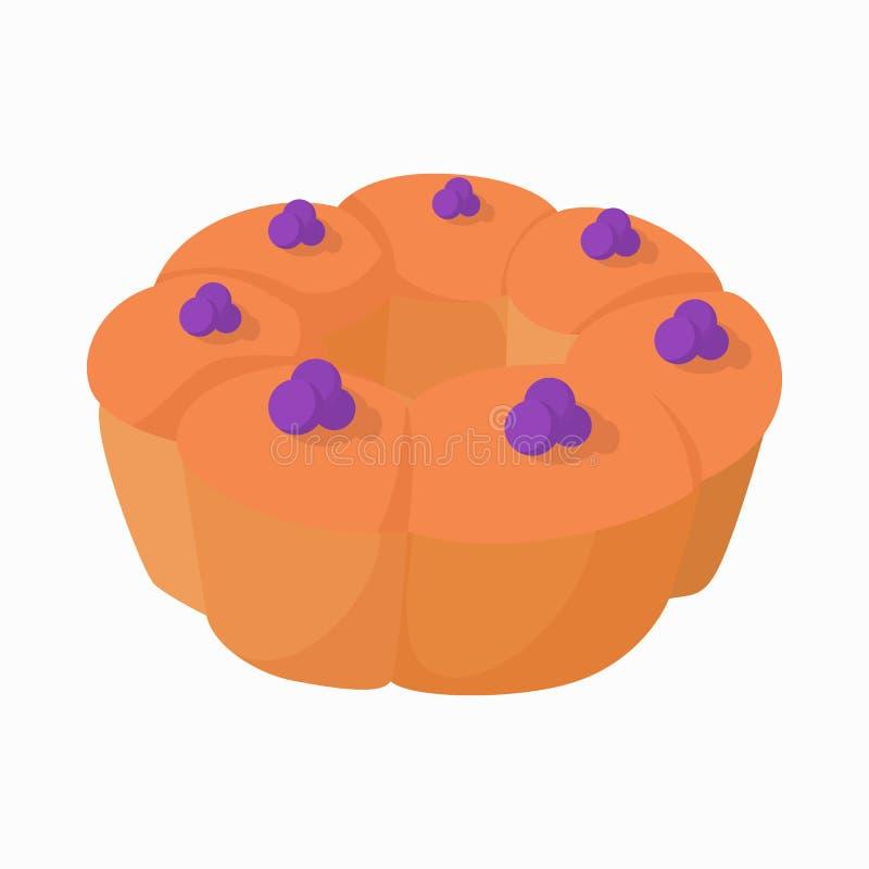 Icône de pudding de dessert, style de bande dessinée illustration libre de droits