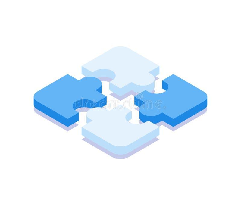 Ic?ne de puzzle Illustration de vecteur dans le style 3D isom?trique plat illustration stock
