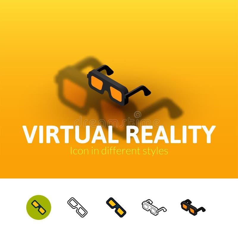 Icône de réalité virtuelle dans le style différent illustration libre de droits