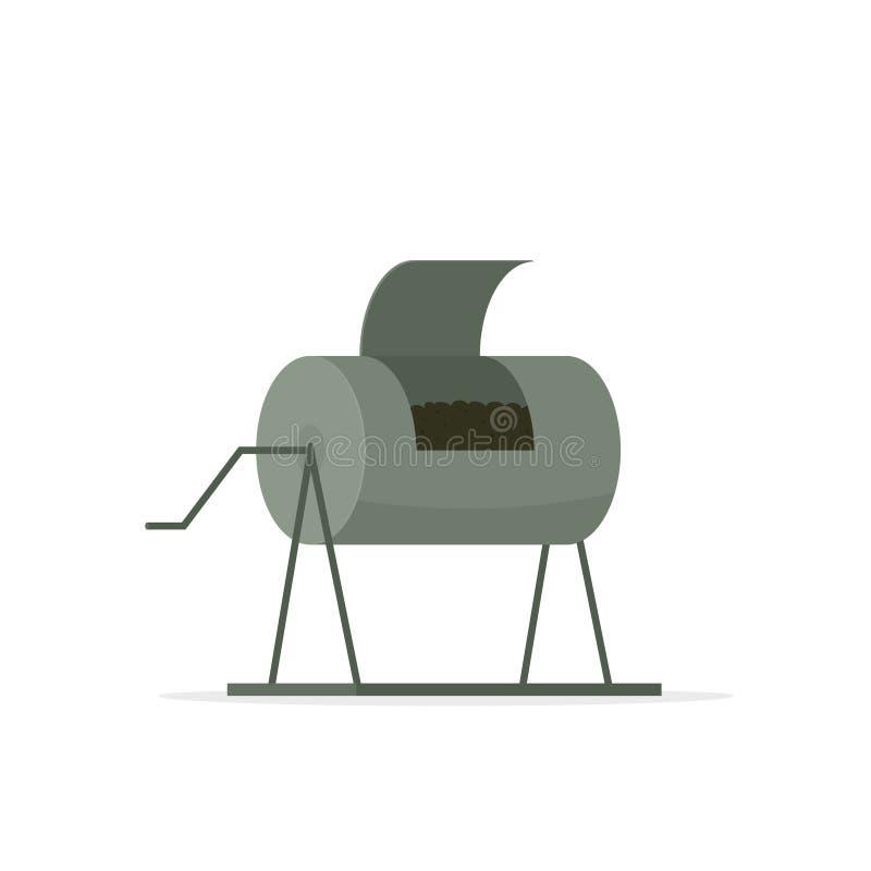 Icône de récipient de compost illustration de vecteur
