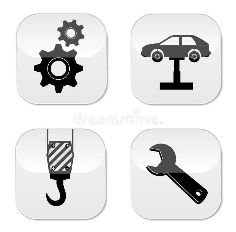 Icône de réparation de voiture illustration de vecteur