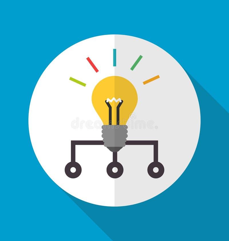 Icône de réseau de la connaissance illustration libre de droits