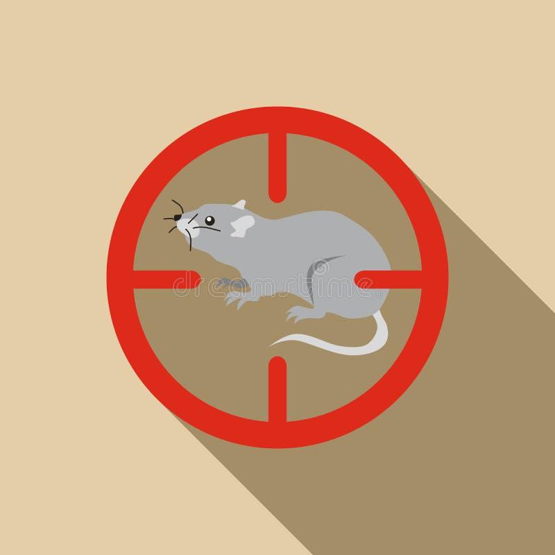 Icône de rat, style plat illustration de vecteur