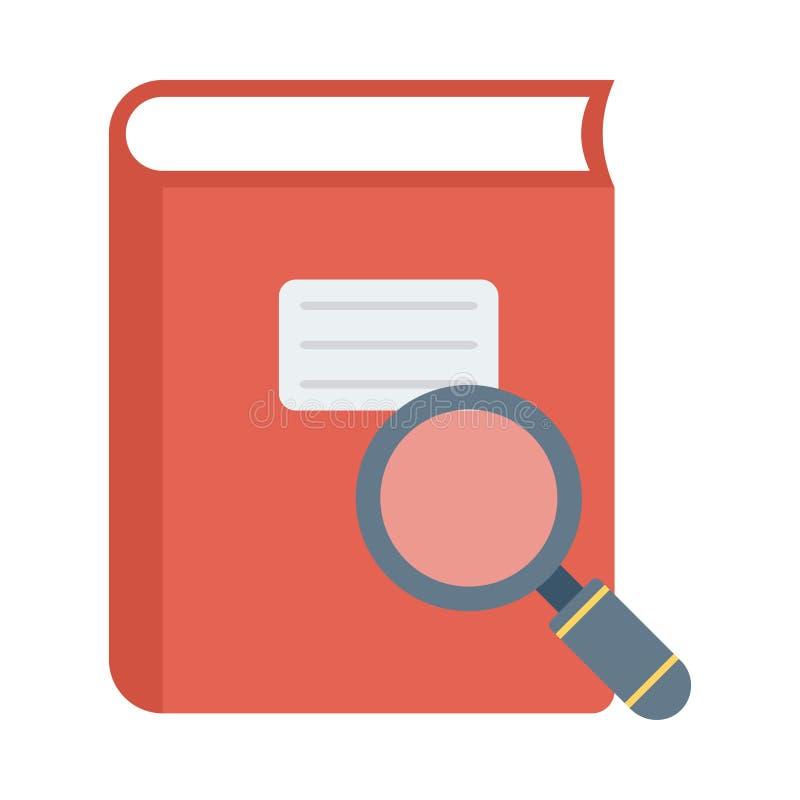 Icône de recherche de livre illustration de vecteur