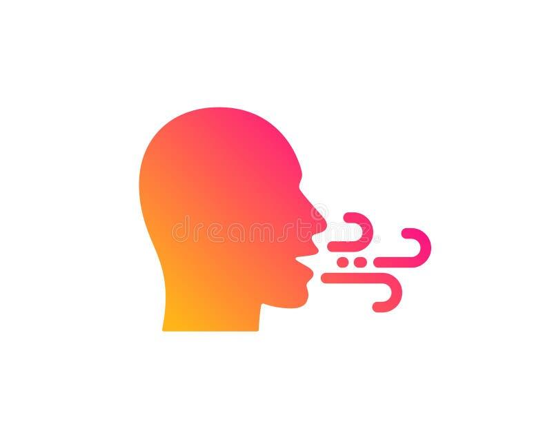 Ic?ne de respiration Les difficult?s de souffle signent Vecteur illustration stock