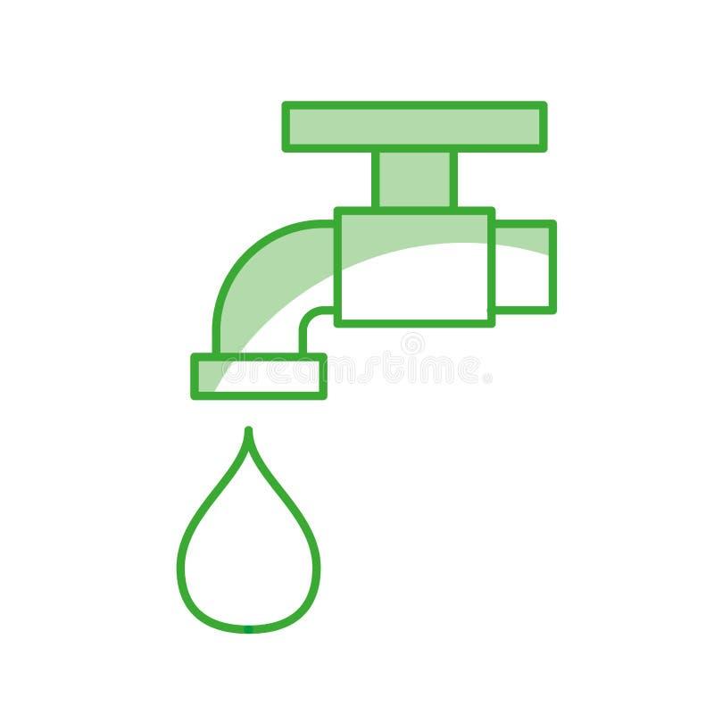Icône de robinet illustration stock