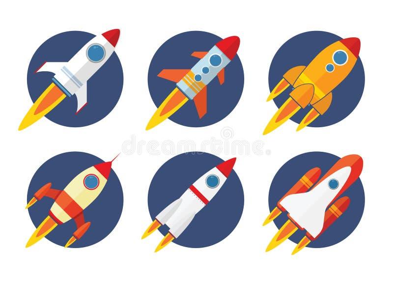 Icône de Rocket illustration de vecteur