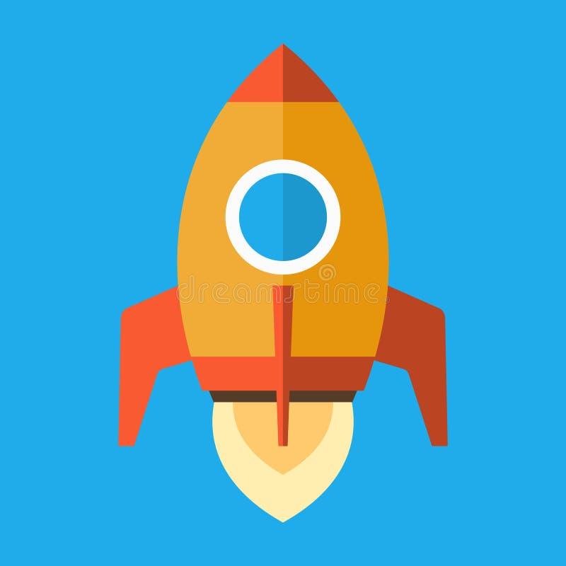 Icône de Rocket dans le style plat Vecteur illustration stock