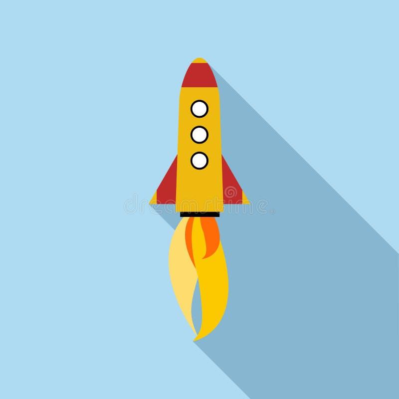 Icône de Rocket, style plat illustration stock