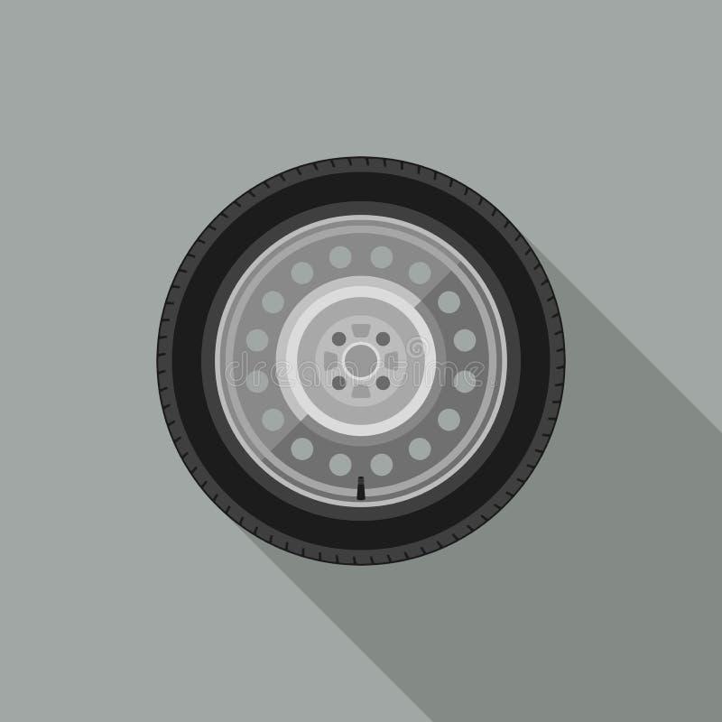 Icône de roue de voiture illustration de vecteur