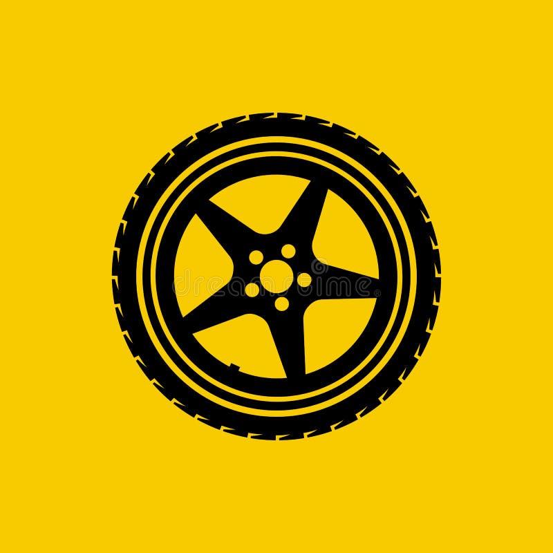 Icône de roue de voiture illustration libre de droits