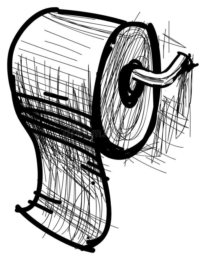Icône de rouleau de papier hygiénique de bande dessinée illustration de vecteur