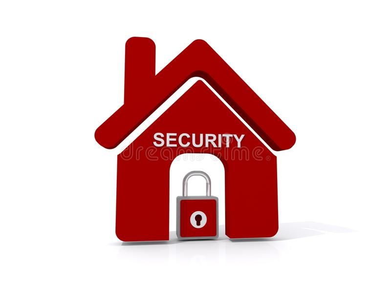 Icône de sécurité à la maison photographie stock libre de droits