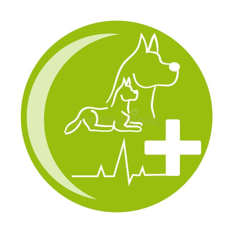 Icône de santé de chien sur le fond blanc illustration libre de droits