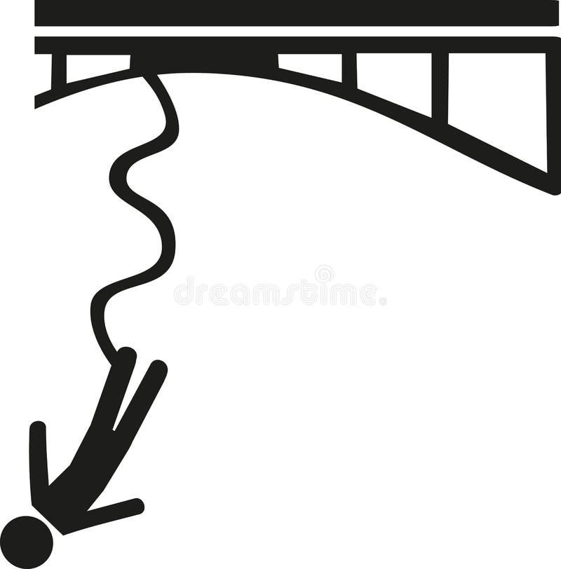 Icône de saut à l'élastique illustration de vecteur