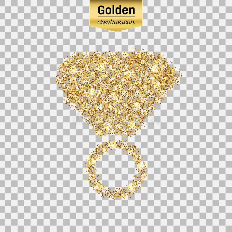 Icône de scintillement d'or illustration de vecteur