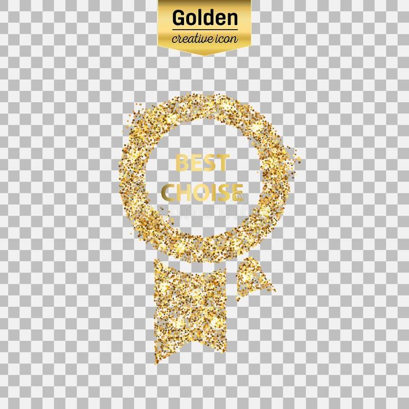 Icône de scintillement d'or illustration libre de droits