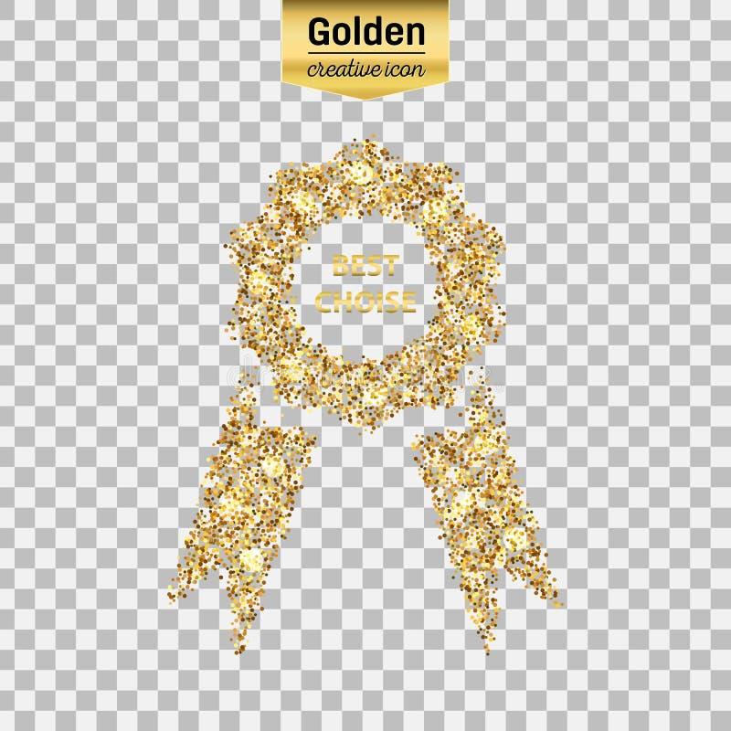 Icône de scintillement d'or illustration stock
