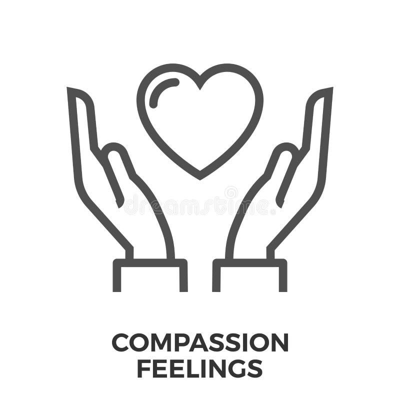 Icône de sentiments de compassion illustration libre de droits
