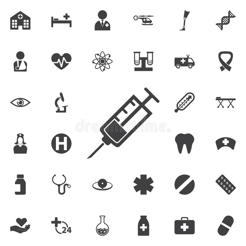 Icône de seringue illustration de vecteur