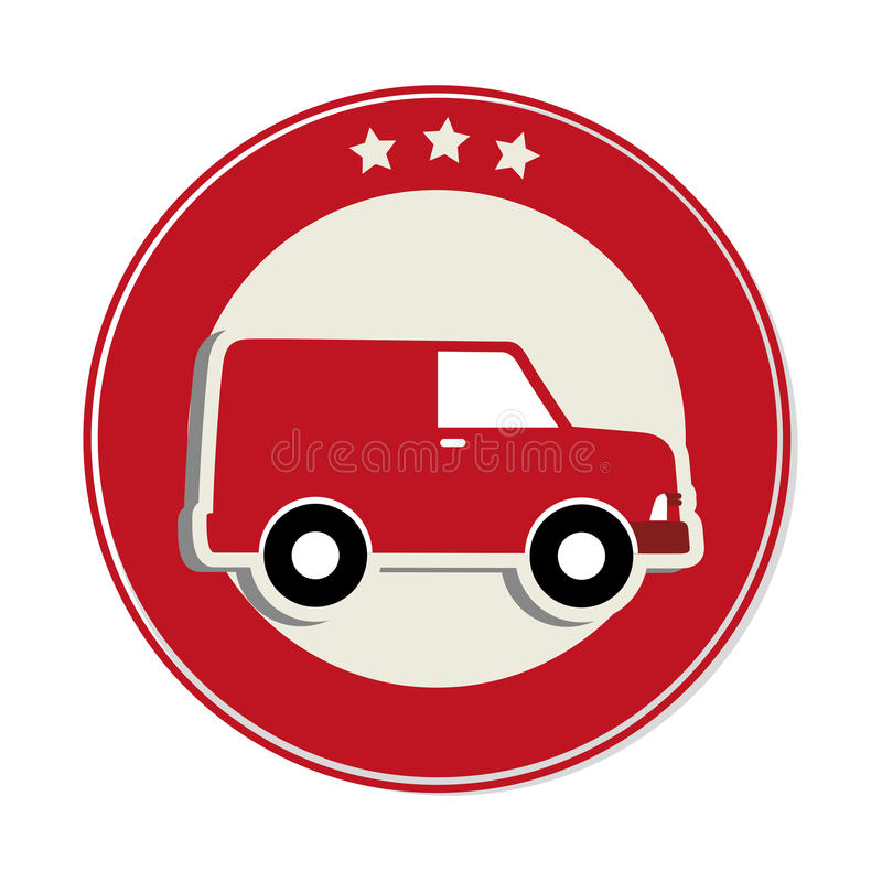 Download Icône De Service De Distribution De Camion Illustration de Vecteur - Illustration du dessin, véhicule: 87703237
