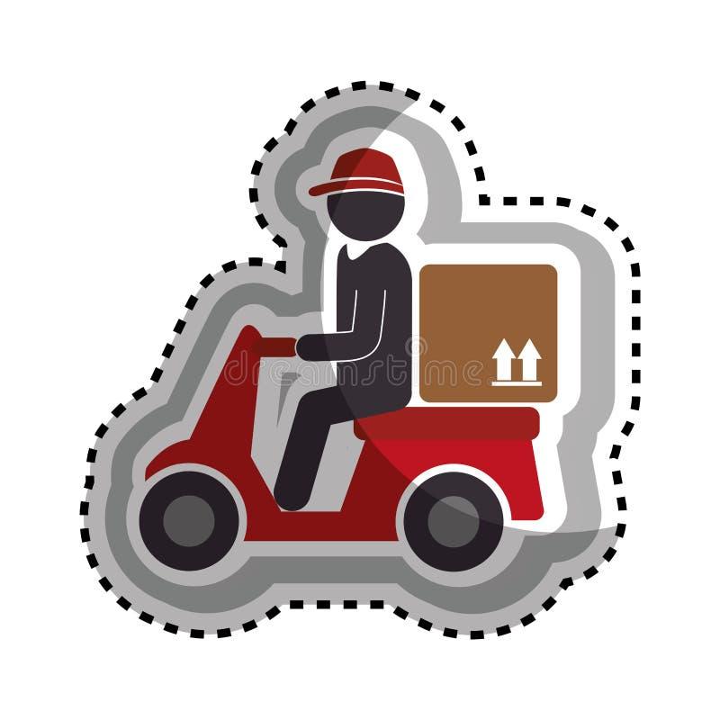 Download Icône De Service De Moto De La Livraison Illustration de Vecteur - Illustration du lecteur, module: 87703199