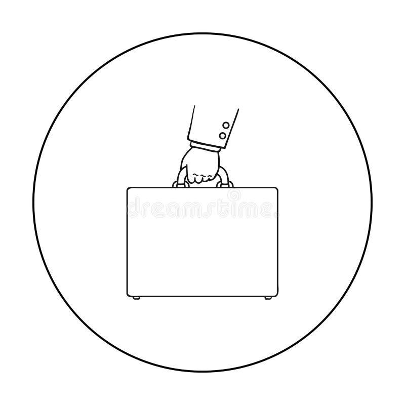 Icône de serviette dans le style d'ensemble d'isolement sur le fond blanc Argent et illustration de vecteur d'actions de symbole  illustration stock