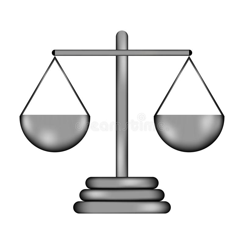 Icône de signe d'échelle illustration libre de droits