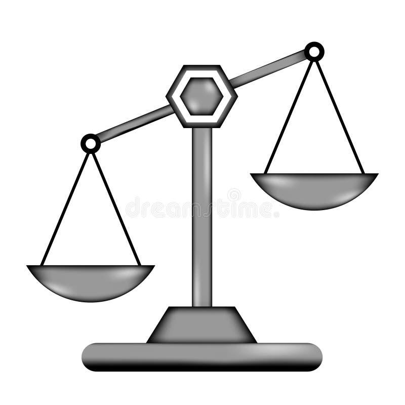 Icône de signe d'échelle illustration de vecteur