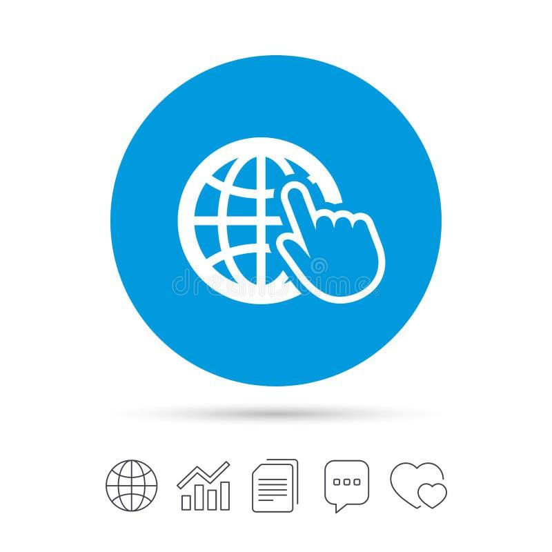 Icône de signe d'Internet Symbole de World Wide Web illustration libre de droits