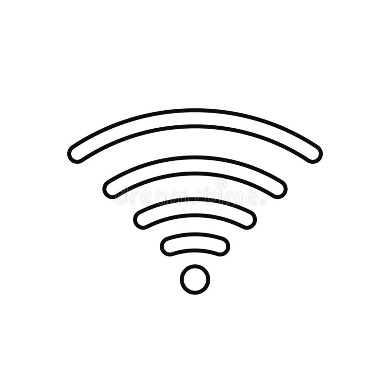 Ic?ne de signe d'Internet de Wifi dans le style plat L'illustration de vecteur de technologie du sans fil de Wi-Fi sur le blanc a illustration stock